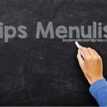 Tips dalam menulis artikel